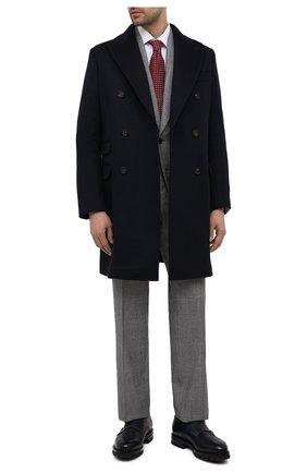 Мужские кожаные монки SANTONI синего цвета, арт. MCC015188ML6YHSIU59 | Фото 2