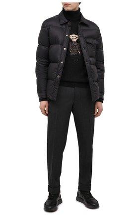 Мужские кожаные кроссовки SANTONI черного цвета, арт. MBCR21409ANAPWYAN01 | Фото 2
