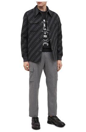 Мужские кожаные кроссовки SANTONI темно-серого цвета, арт. MBEN21167NGGRG0DG62 | Фото 2