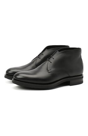 Мужские кожаные ботинки SANTONI черного цвета, арт. MC0S11764UL3ASEBN01 | Фото 1