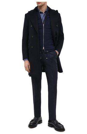 Мужские кожаные монки SANTONI синего цвета, арт. MCC017547ML6YVVDU59 | Фото 2