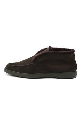 Мужские замшевые ботинки SANTONI темно-зеленого цвета, арт. MGYA16837L0DAPFCV74   Фото 3