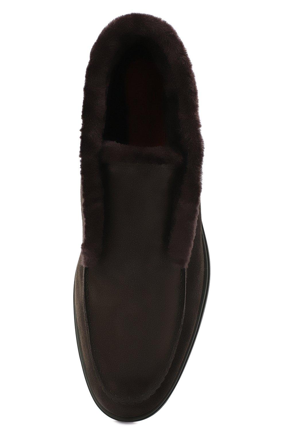 Мужские замшевые ботинки SANTONI темно-зеленого цвета, арт. MGYA16837L0DAPFCV74   Фото 5