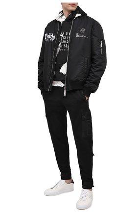 Мужские кожаные кеды urban street GIVENCHY черно-белого цвета, арт. BH0002H0QR   Фото 2
