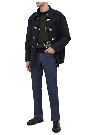 Мужские кожаные кеды ALDO BRUE темно-синего цвета, арт. ABG04K-VP.L.960 | Фото 2