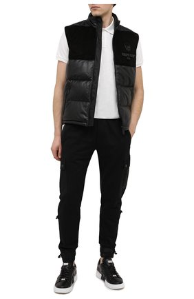 Мужское хлопковое поло MONCLER белого цвета, арт. F2-091-8A711-00-84556 | Фото 2