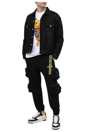 Мужской хлопковые джоггеры COMME DES FUCKDOWN черного цвета, арт. CDFU1025 | Фото 2