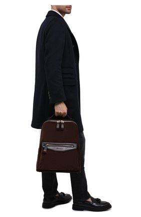 Мужской замшевый рюкзак SANTONI темно-коричневого цвета, арт. UIBBA2007LI-H2RUT50 | Фото 2