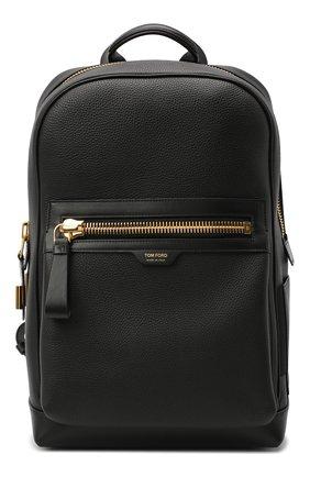 Мужской кожаный рюкзак TOM FORD черного цвета, арт. H0437T-LCL037 | Фото 1