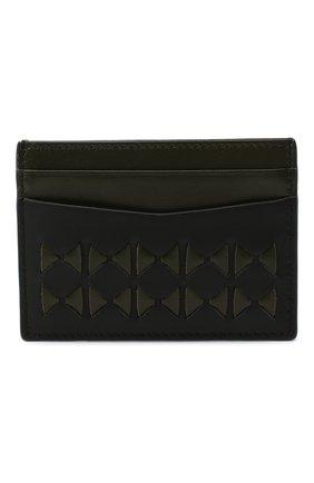 Мужской кожаный футляр для кредитных карт  SERAPIAN хаки цвета, арт. SM0SAMSL7127M11K | Фото 1