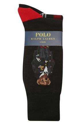 Мужские комплект их двух пар носков POLO RALPH LAUREN красного цвета, арт. 449823346 | Фото 1