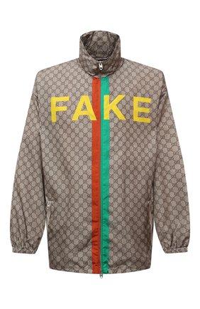 Мужская куртка «fake/not» GUCCI бежевого цвета, арт. 636390/ZAFKX | Фото 1
