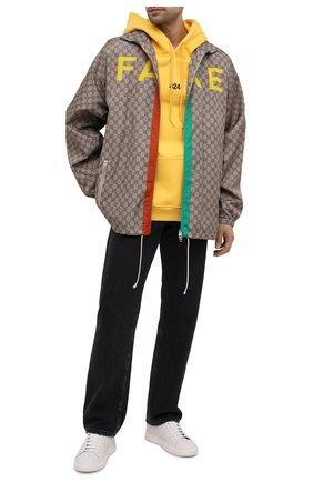 Мужская куртка «fake/not» GUCCI бежевого цвета, арт. 636390/ZAFKX | Фото 2