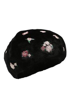 Женский берет из меха норки KUSSENKOVV черного цвета, арт. 11510039259 | Фото 1