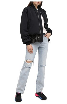 Женские текстильные кроссовки zx journey ADIDAS ORIGINALS черного цвета, арт. FV2316 | Фото 2
