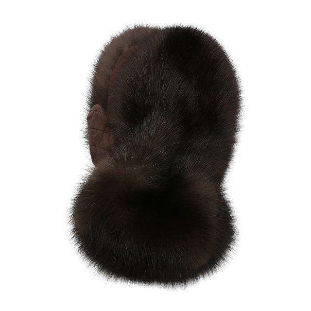 Меховые варежки Black Sable