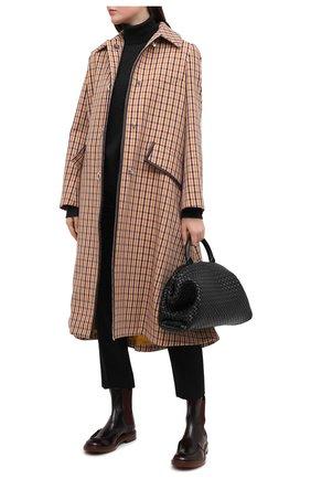 Женские кожаные ботинки TOD'S бордового цвета, арт. XXW93C0DV00ESH   Фото 2