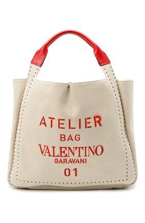 Женский сумка-шопер atelier medium VALENTINO бежевого цвета, арт. UW0B0H85/NIZ | Фото 1