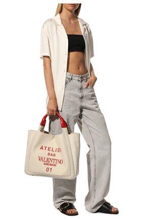 Женский сумка-шопер atelier medium VALENTINO бежевого цвета, арт. UW0B0H85/NIZ | Фото 2