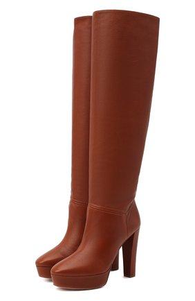 Женские кожаные сапоги chambord 120 AQUAZZURA коричневого цвета, арт. CMBMIDB0-SCA-PEC   Фото 1
