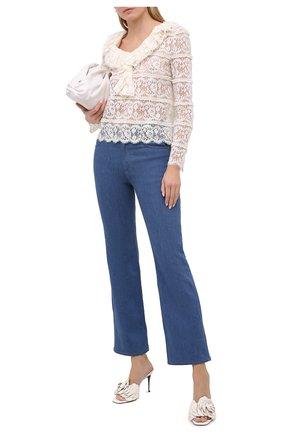 Женские кожаные мюли valentino garavani atelier VALENTINO белого цвета, арт. UW0S0AN5/HLK   Фото 2