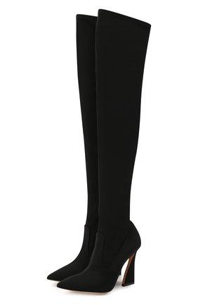 Женские текстильные ботфорты maudi 105 GIANVITO ROSSI черного цвета, арт. G80463.15RIC.0SANER0 | Фото 1