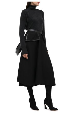 Женские текстильные ботфорты maudi 105 GIANVITO ROSSI черного цвета, арт. G80463.15RIC.0SANER0 | Фото 2