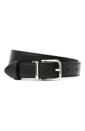 Женский кожаный ремень DOLCE & GABBANA черного цвета, арт. BE1351/AW740   Фото 1