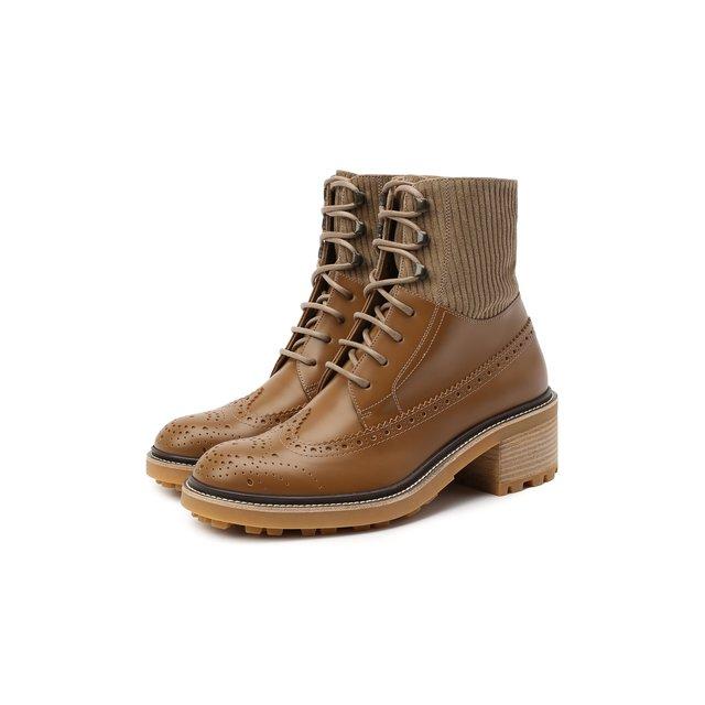 Кожаные ботинки Chloé