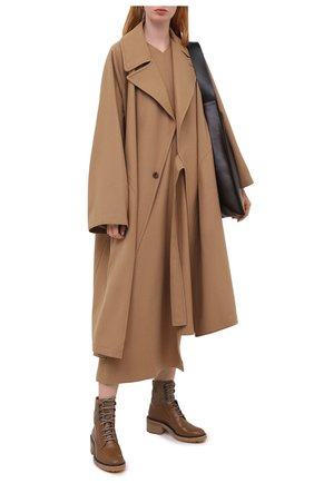 Женские кожаные ботинки CHLOÉ коричневого цвета, арт. CHC20W379P3 | Фото 2