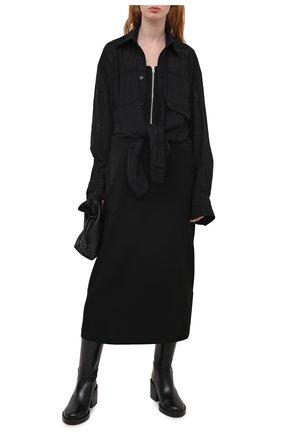 Женское шерстяное платье Y`S черного цвета, арт. YB-D41-032 | Фото 2