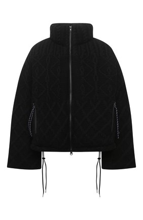 Женский пуховая куртка YOHJI YAMAMOTO черного цвета, арт. FB-J52-103 | Фото 1