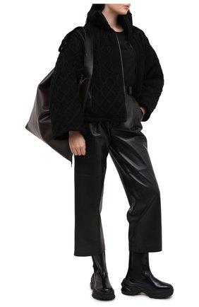 Женский пуховая куртка YOHJI YAMAMOTO черного цвета, арт. FB-J52-103 | Фото 2