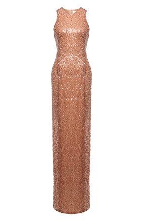 Женское платье с пайетками GALVAN LONDON бежевого цвета, арт. 100C0DR0013 | Фото 1