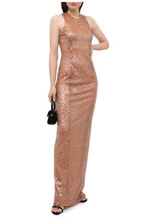 Женское платье с пайетками GALVAN LONDON бежевого цвета, арт. 100C0DR0013 | Фото 2