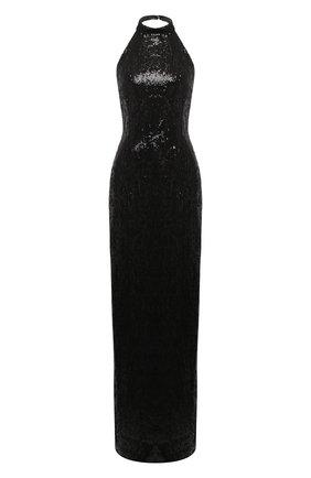 Женское платье с пайетками GALVAN LONDON черного цвета, арт. 220SEDR0075 | Фото 1
