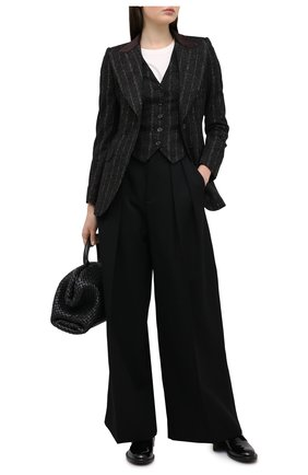Женский жакет DOLCE & GABBANA черного цвета, арт. F29GZT/FRMDW   Фото 2