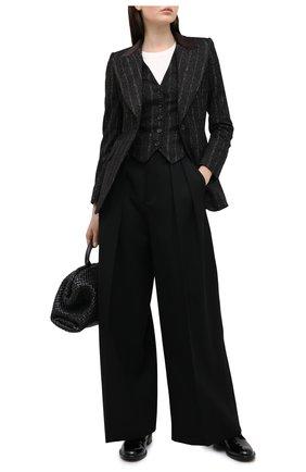 Женский жилет DOLCE & GABBANA черного цвета, арт. F79H5T/FRMDW   Фото 2