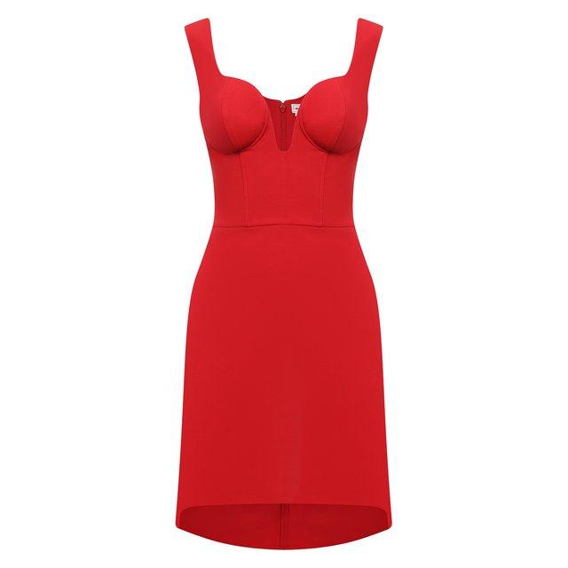 Платье из шерсти и шелка Alexander McQueen
