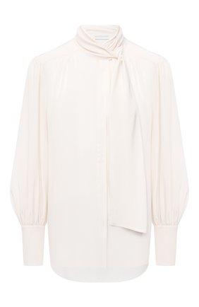 Женская шелковая блузка ZIMMERMANN кремвого цвета, арт. 8947TRLAD/PEL | Фото 1