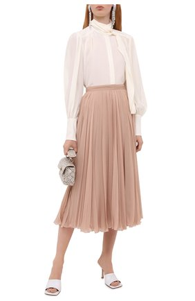 Женская шелковая блузка ZIMMERMANN кремвого цвета, арт. 8947TRLAD/PEL | Фото 2