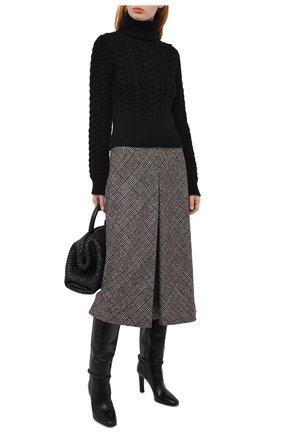 Женская кашемировый свитер DOLCE & GABBANA черного цвета, арт. FX892T/JAW3L | Фото 2