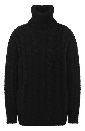 Женская свитер из шерсти и кашемира DOLCE & GABBANA черного цвета, арт. FXB96T/JAM95 | Фото 1