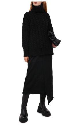 Женская свитер из шерсти и кашемира DOLCE & GABBANA черного цвета, арт. FXB96T/JAM95 | Фото 2