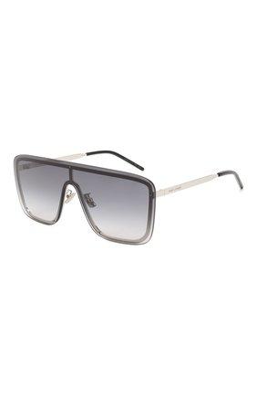 Женские солнцезащитные очки SAINT LAURENT серебряного цвета, арт. SL 364 MASK   Фото 1