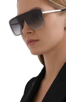 Женские солнцезащитные очки SAINT LAURENT серебряного цвета, арт. SL 364 MASK   Фото 2