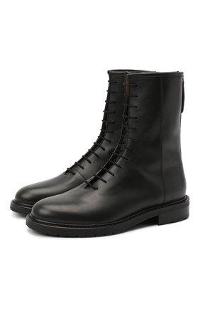 Женские кожаные ботинки LE GRES черного цвета, арт. D126NA | Фото 1