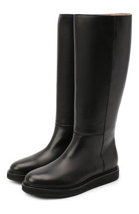 Женские кожаные сапоги LE GRES черного цвета, арт. D151NA | Фото 1