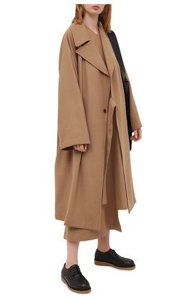 Женская кожаные дерби honore THE ROW темно-коричневого цвета, арт. F1172-L23   Фото 2