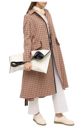 Женская кожаные дерби honore THE ROW бежевого цвета, арт. F1172-L70   Фото 2
